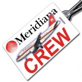 Meridiana Airbus A319 Crew Tag